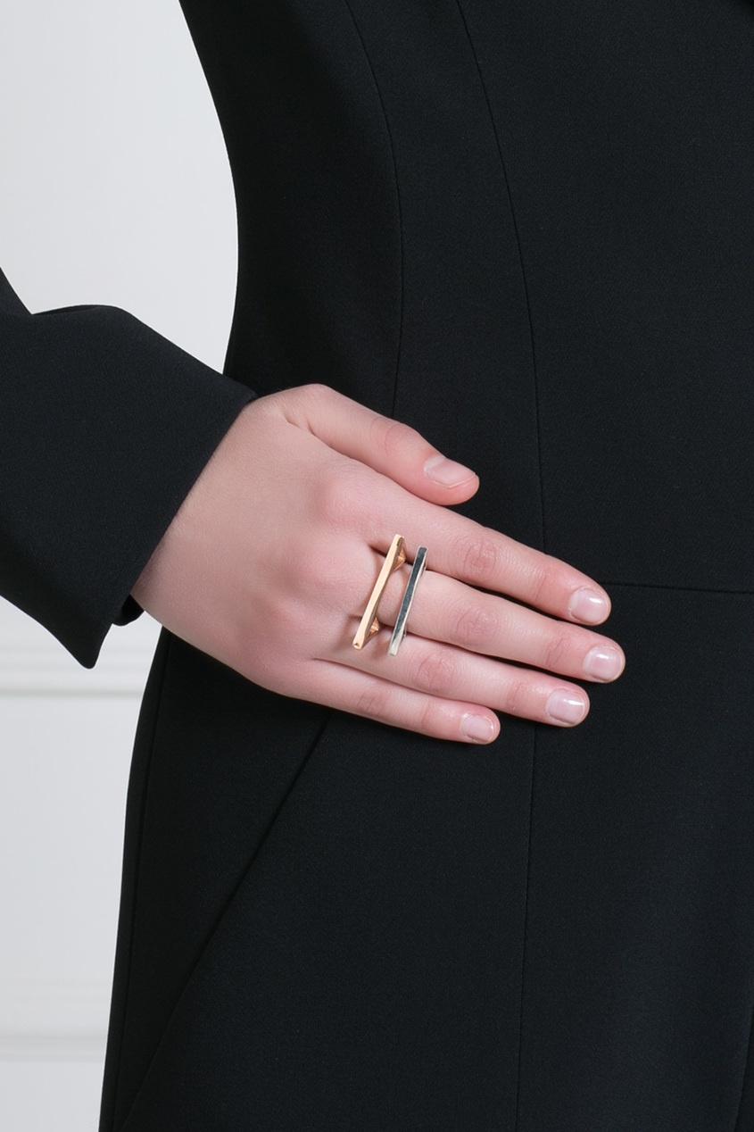 Pamela Love Кольцо из латуни с золотым напылением цена 2017