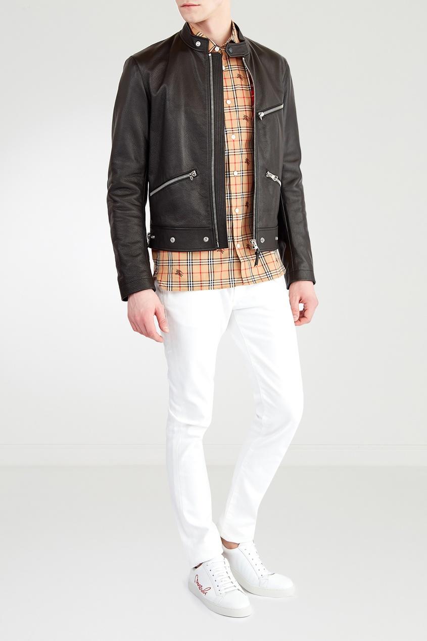 Кожаная куртка от Burberry