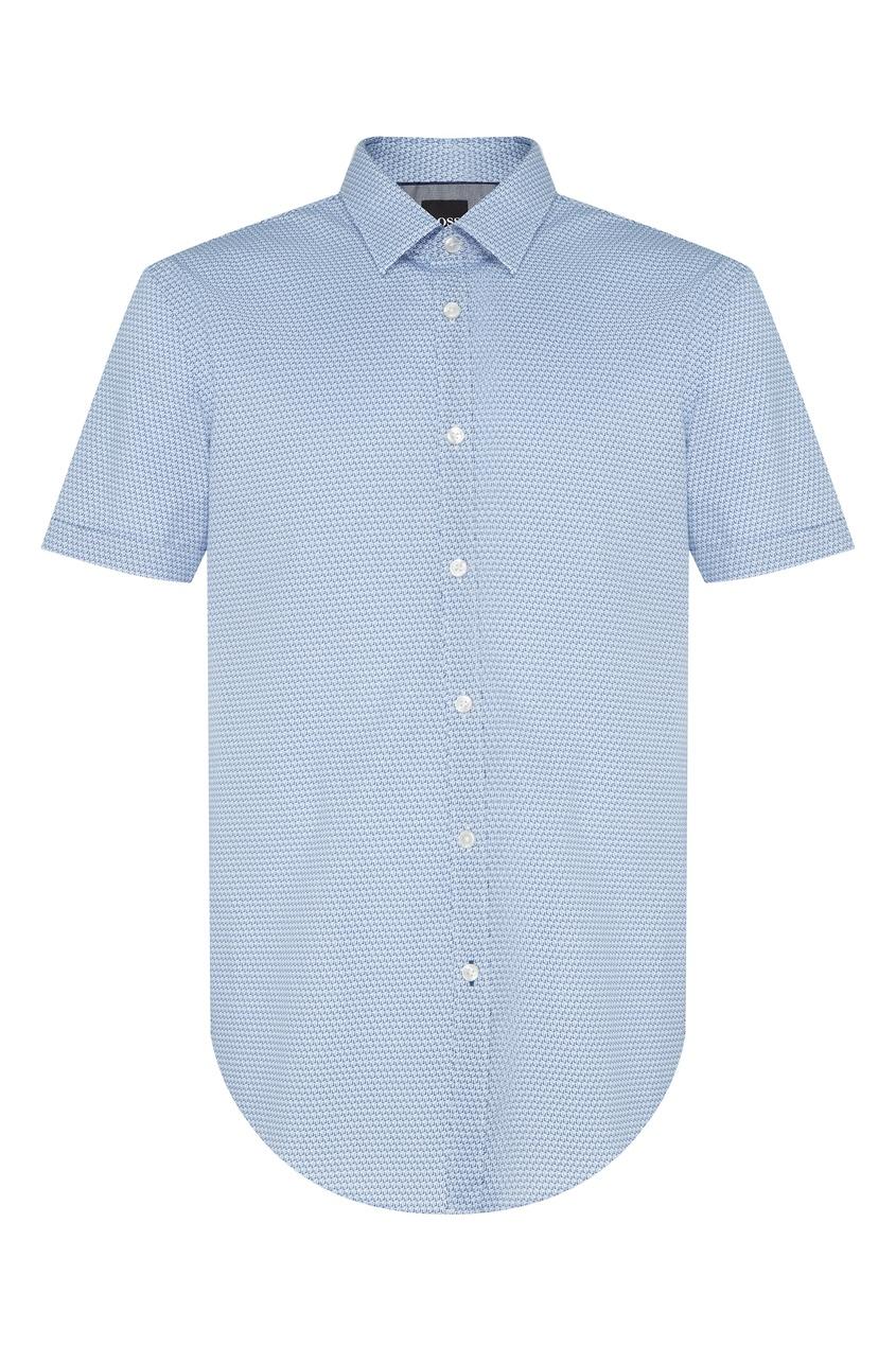 Купить Рубашку с короткими рукавами голубого цвета