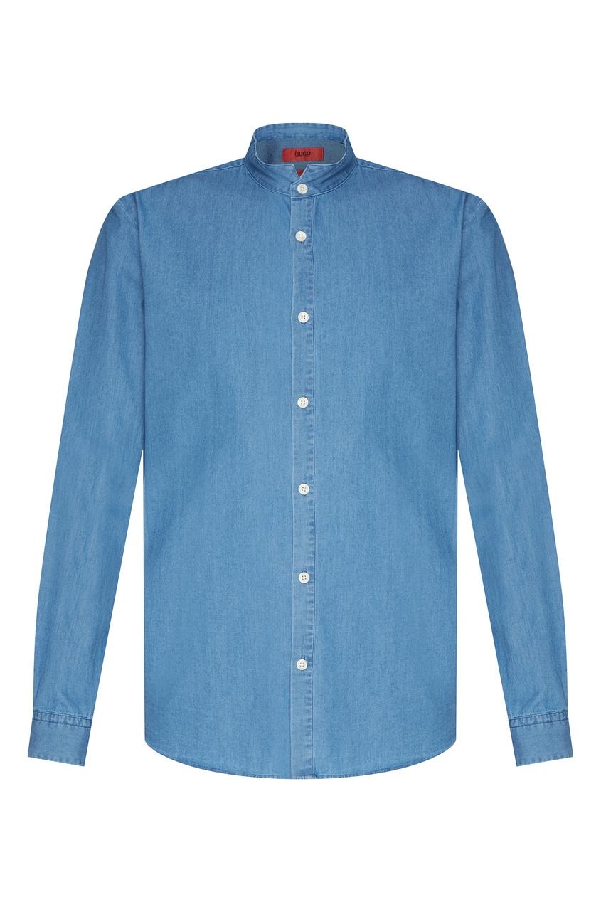 Купить Джинсовая рубашка от Hugo Boss голубого цвета