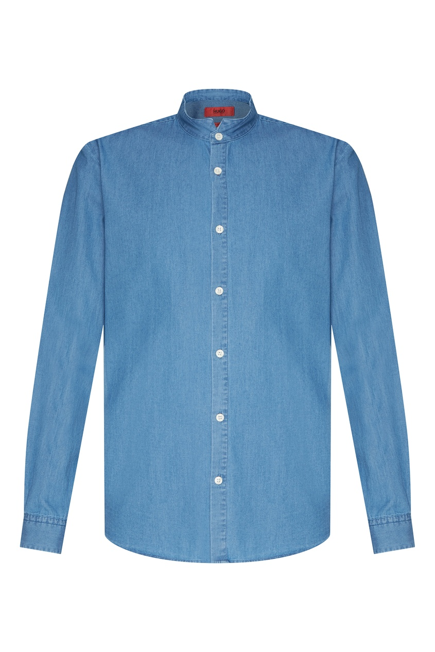 мужская рубашка hugo boss, голубая