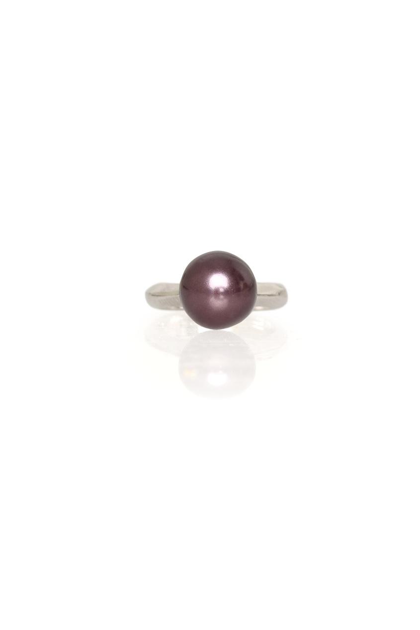 Кольцо из латуни с серебряным напылением Penny
