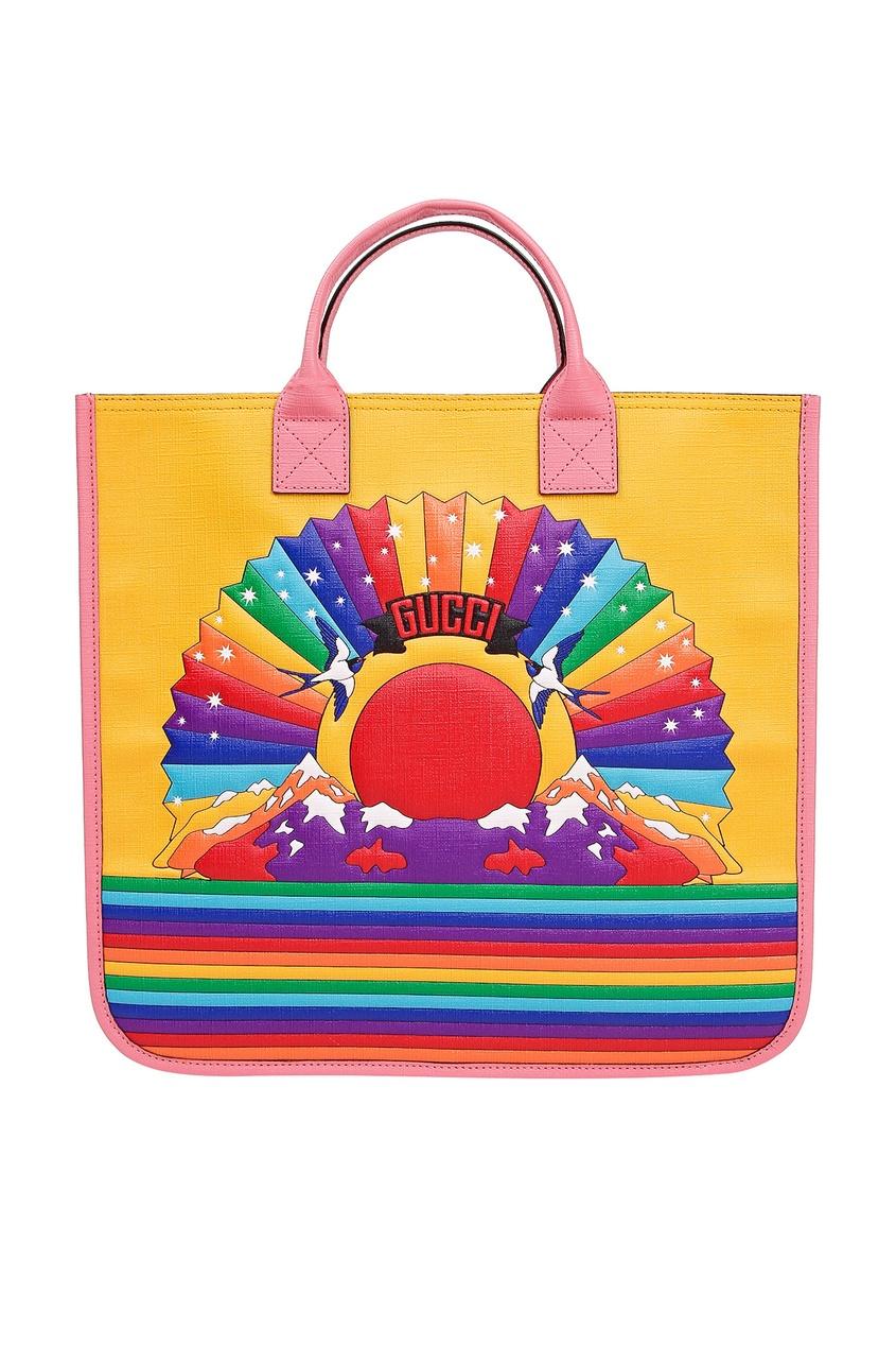 Разноцветная сумка с логотипом Gucci Kids