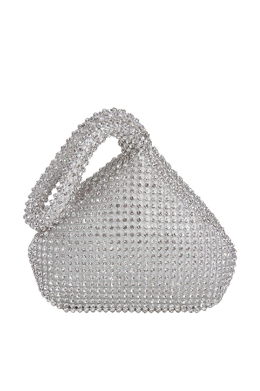 Серебристая сумка с кристаллами David Charles