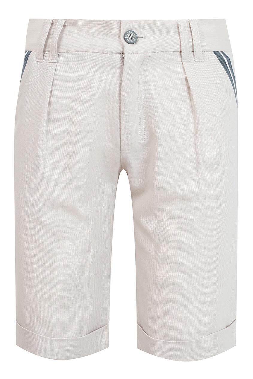 Купить Белые шорты с отделкой от Dior Kids серого цвета