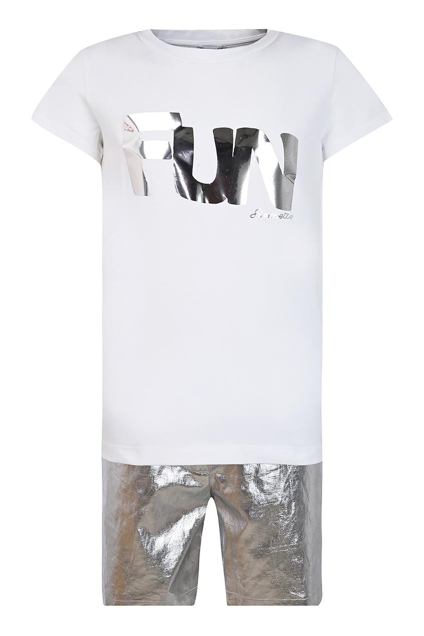 Купить Комплект с футболкой и брюками цвет multicolor