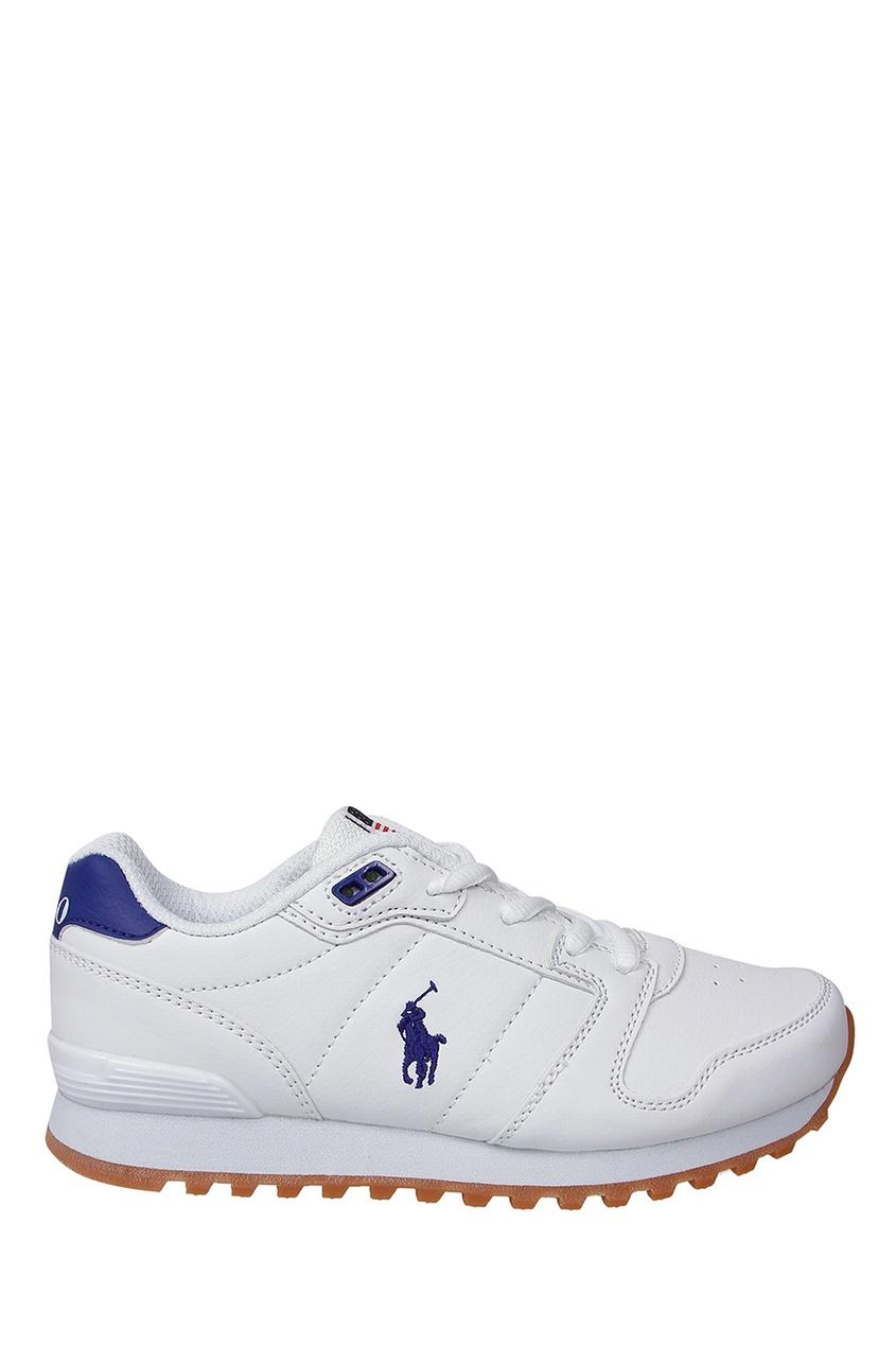Белые кроссовки с вышивкой от Ralph Lauren Kids