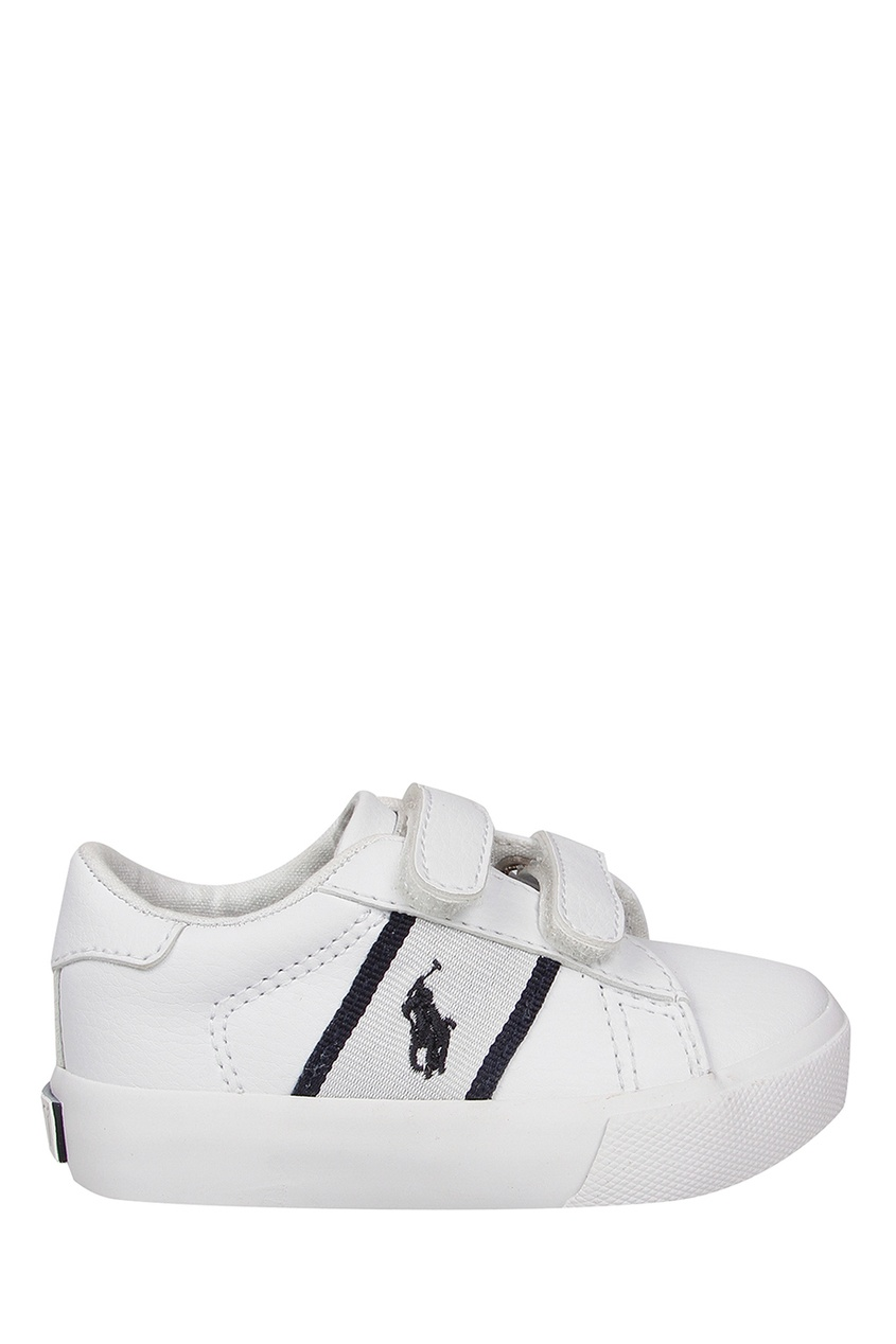 Купить Белые кеды на липучке от Ralph Lauren Kids белого цвета