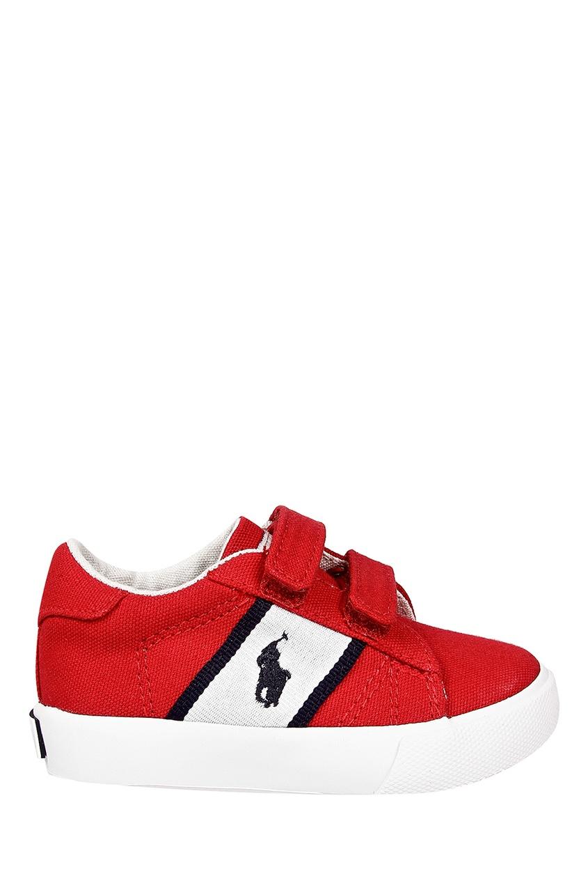 Красные кеды на липучке от Ralph Lauren Kids