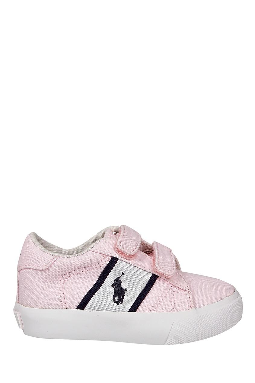 Розовые кеды на липучках от Ralph Lauren Kids