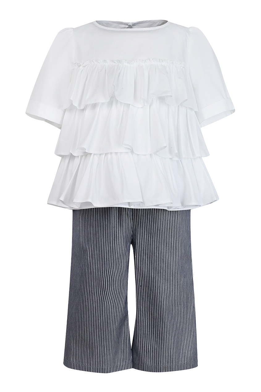 Комплект с блузкой и брюками SIMONETTA MINI