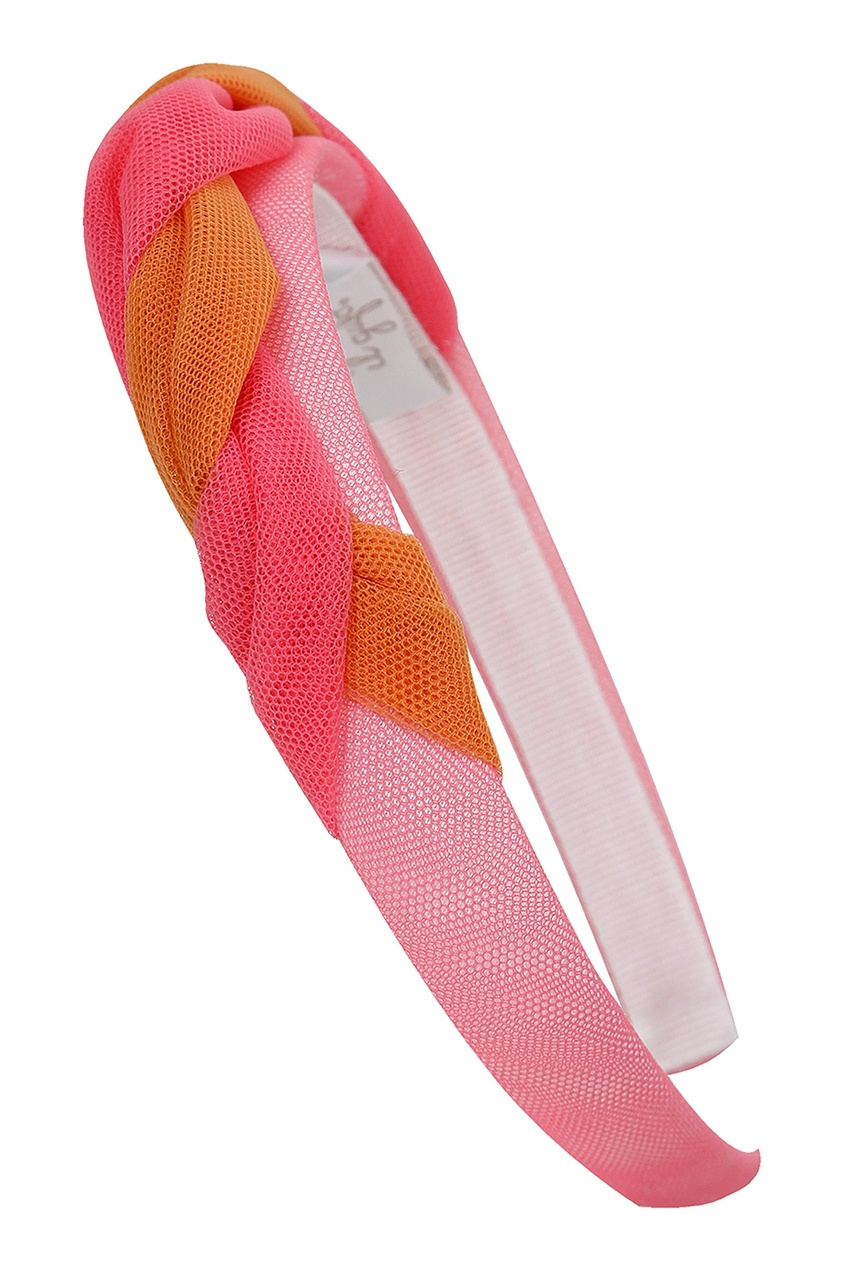 Купить Ободок с сетчатой отделкой розового цвета