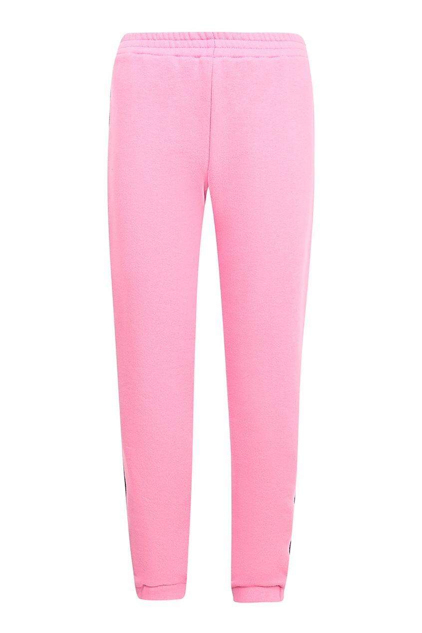 Спортивные розовые брюки с лампасами, Розовый, Спортивные розовые брюки с лампасами