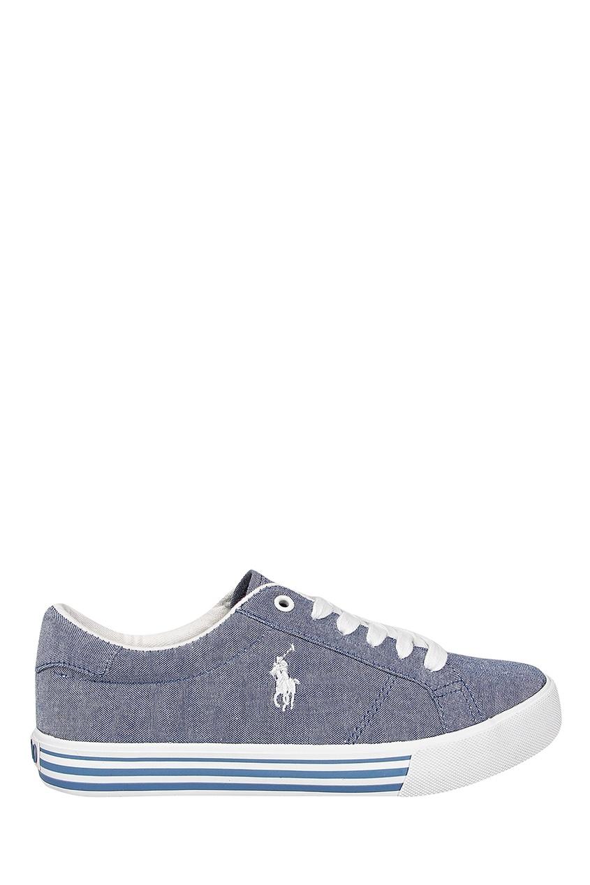 Купить Голубые текстильные кеды от Ralph Lauren Kids голубого цвета