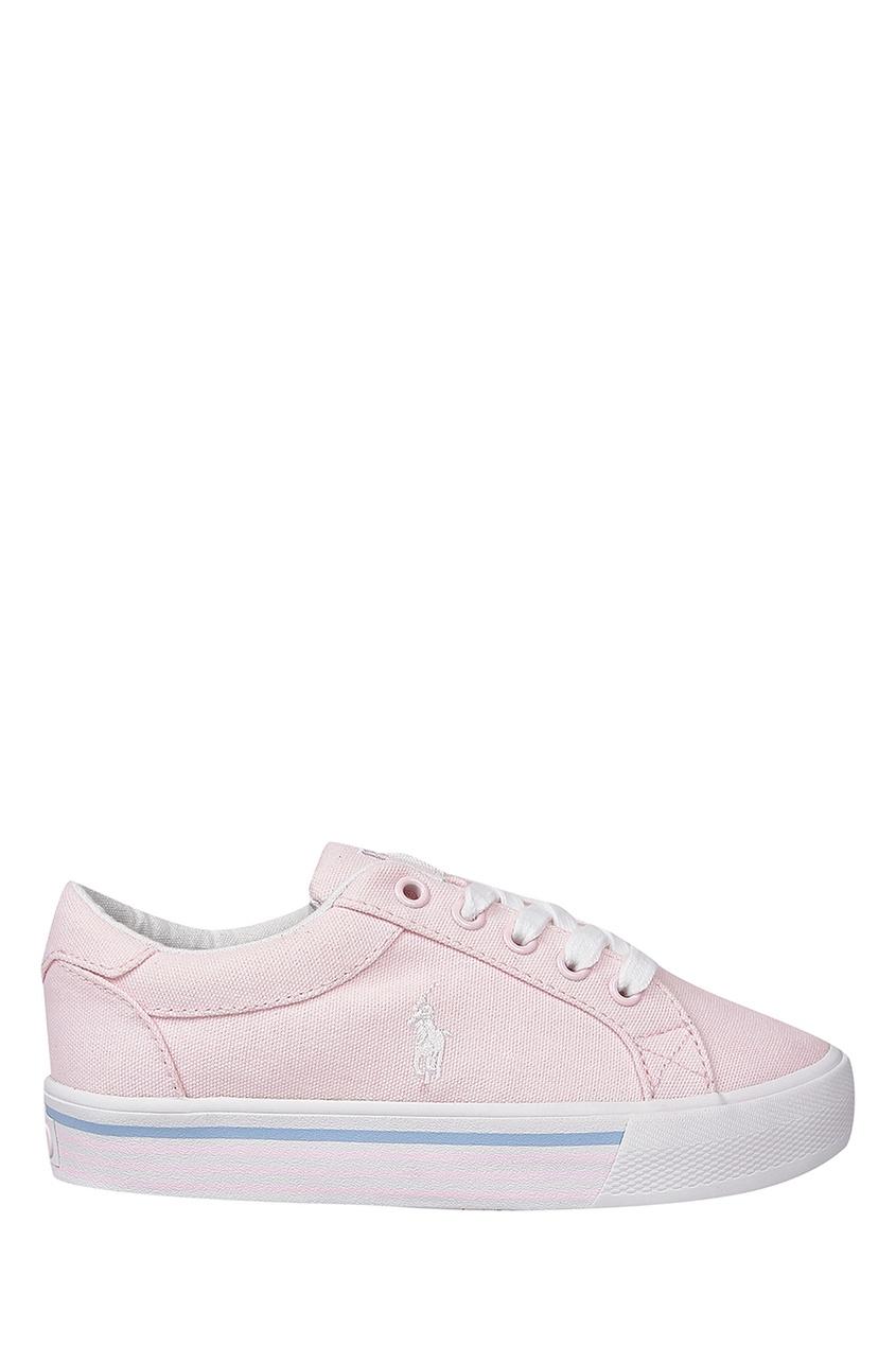 Купить Розовые текстильные кеды от Ralph Lauren Kids розового цвета