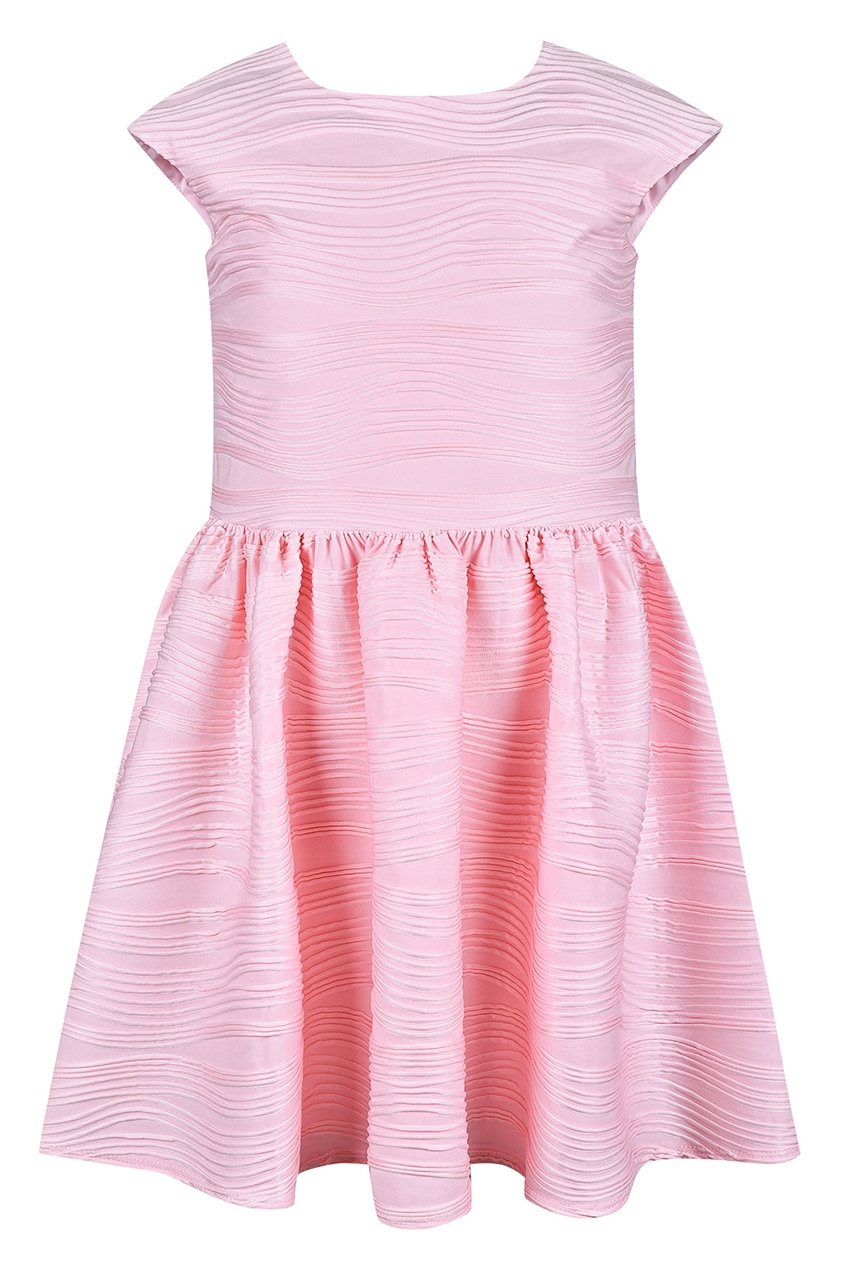 Купить Розовое платье с фактурным узором розового цвета