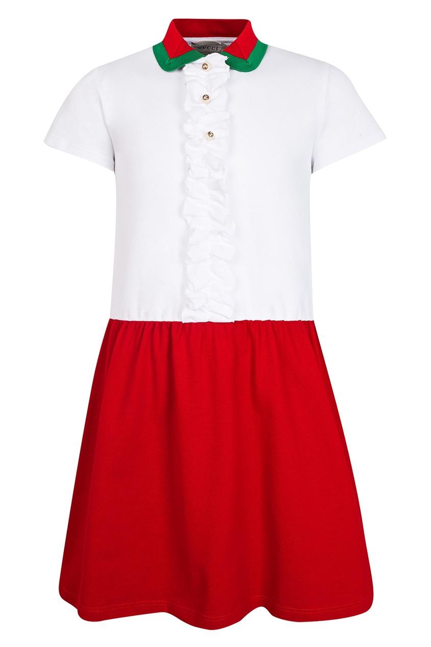 Купить Комбинированное платье от Gucci Kids цвет multicolor