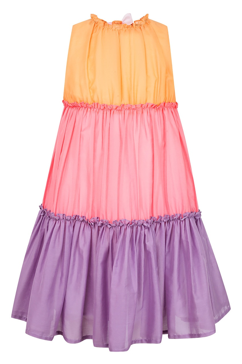 Купить Трехцветное платье цвет multicolor