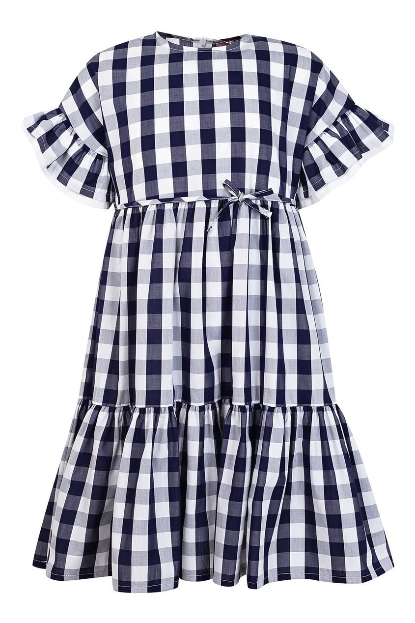 Купить Платье в контрастную клетку цвет multicolor