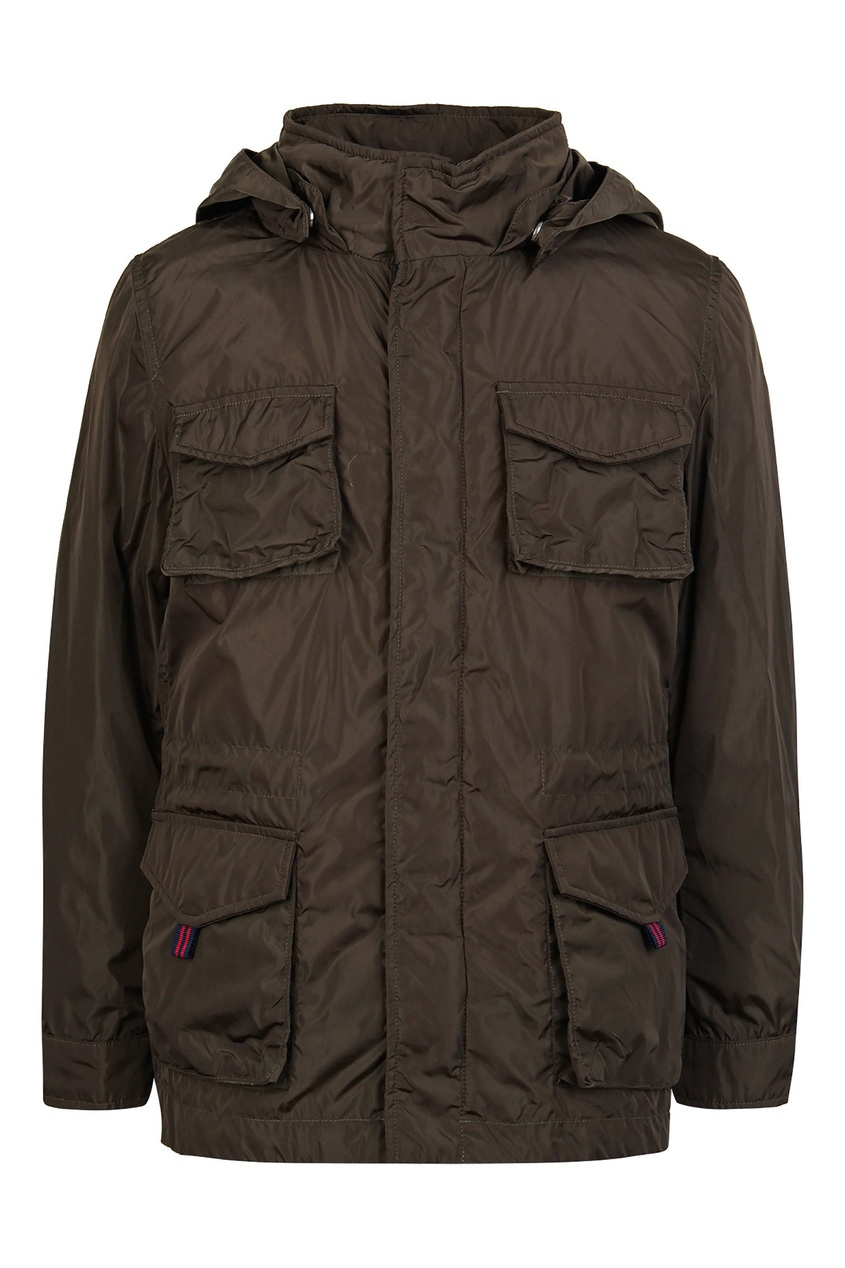 Купить Коричневая куртка с карманами от Add kids цвета хаки