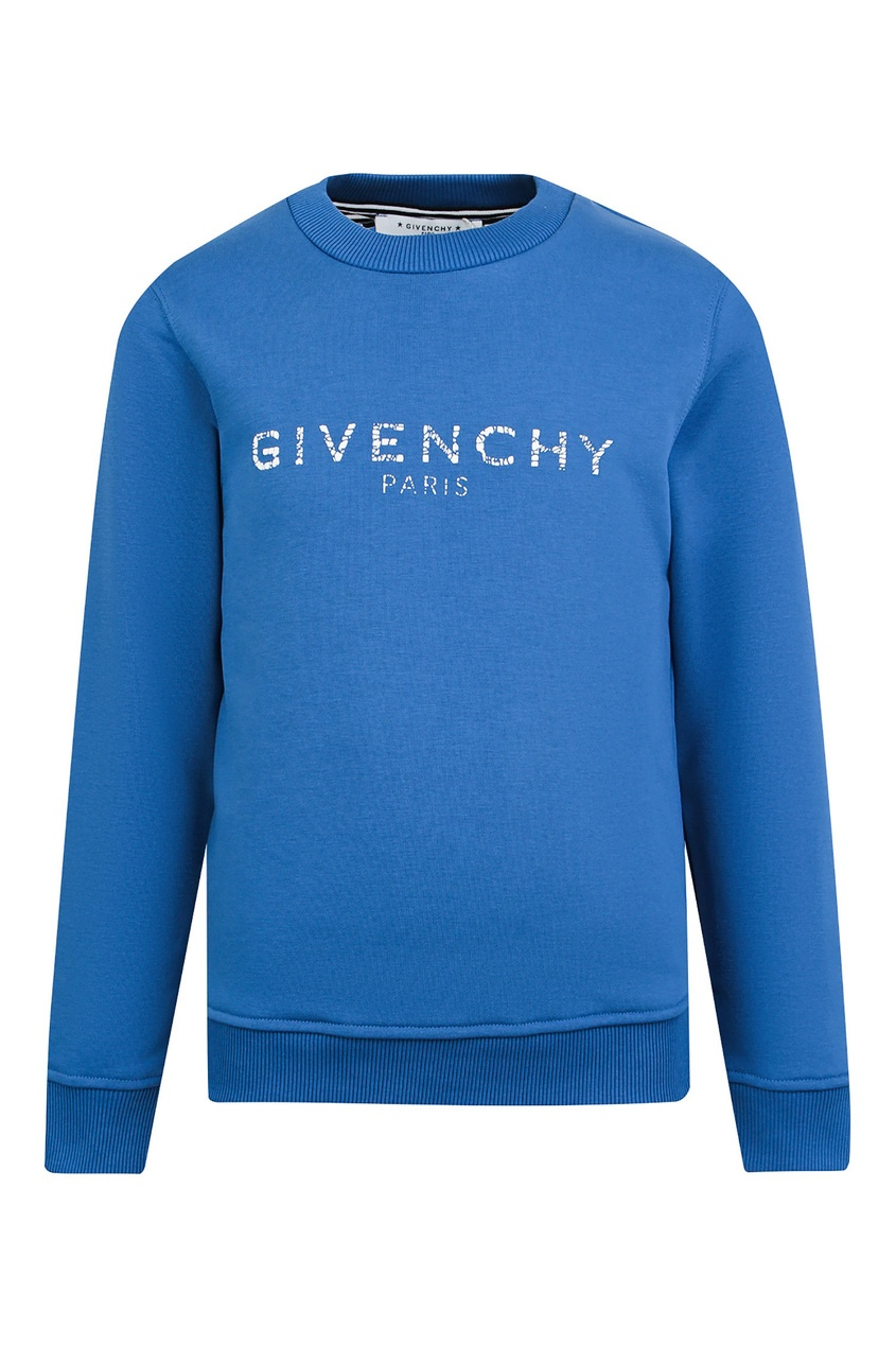 Синий свитшот с логотипом от Givenchy