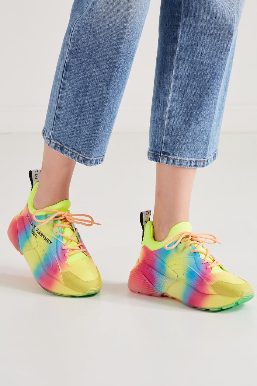Фото 5 - Разноцветные кроссовки с градиентом от Stella McCartney цвет multicolor