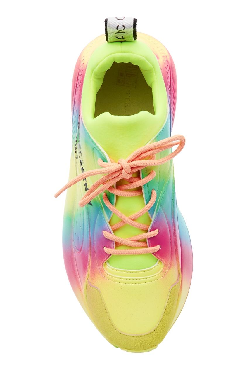 Фото 4 - Разноцветные кроссовки с градиентом от Stella McCartney цвет multicolor