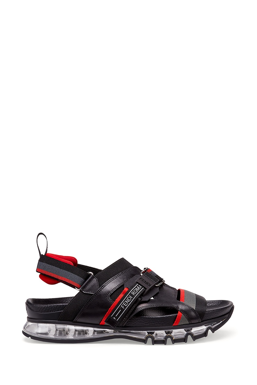 Купить Сандалии в спортивном стиле от Fendi черного цвета