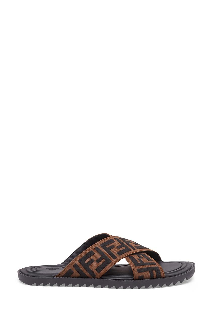 Купить Пантолеты с перекрестными ремешками от Fendi цвет multicolor