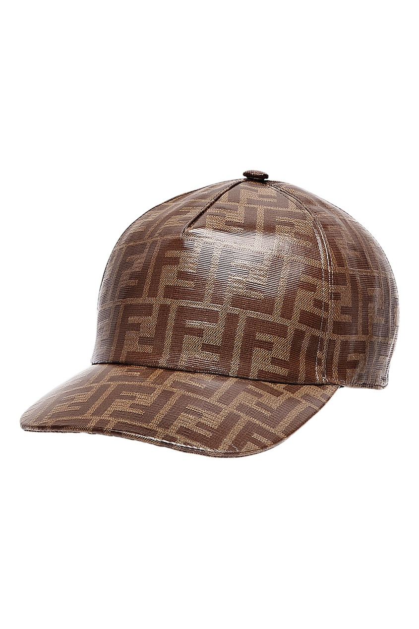 Купить Бейсболка с монограммами от Fendi коричневого цвета