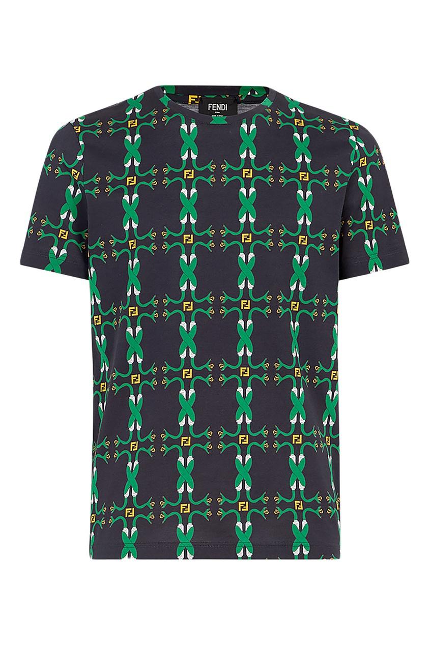 мужская футболка fendi, черная