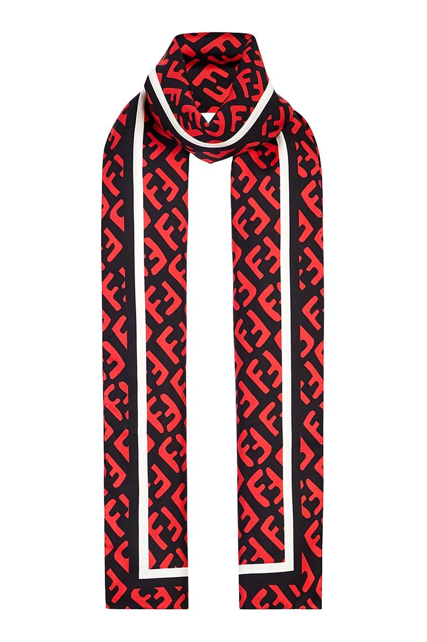 Купить Шарф с красными монограммами от Fendi цвет multicolor