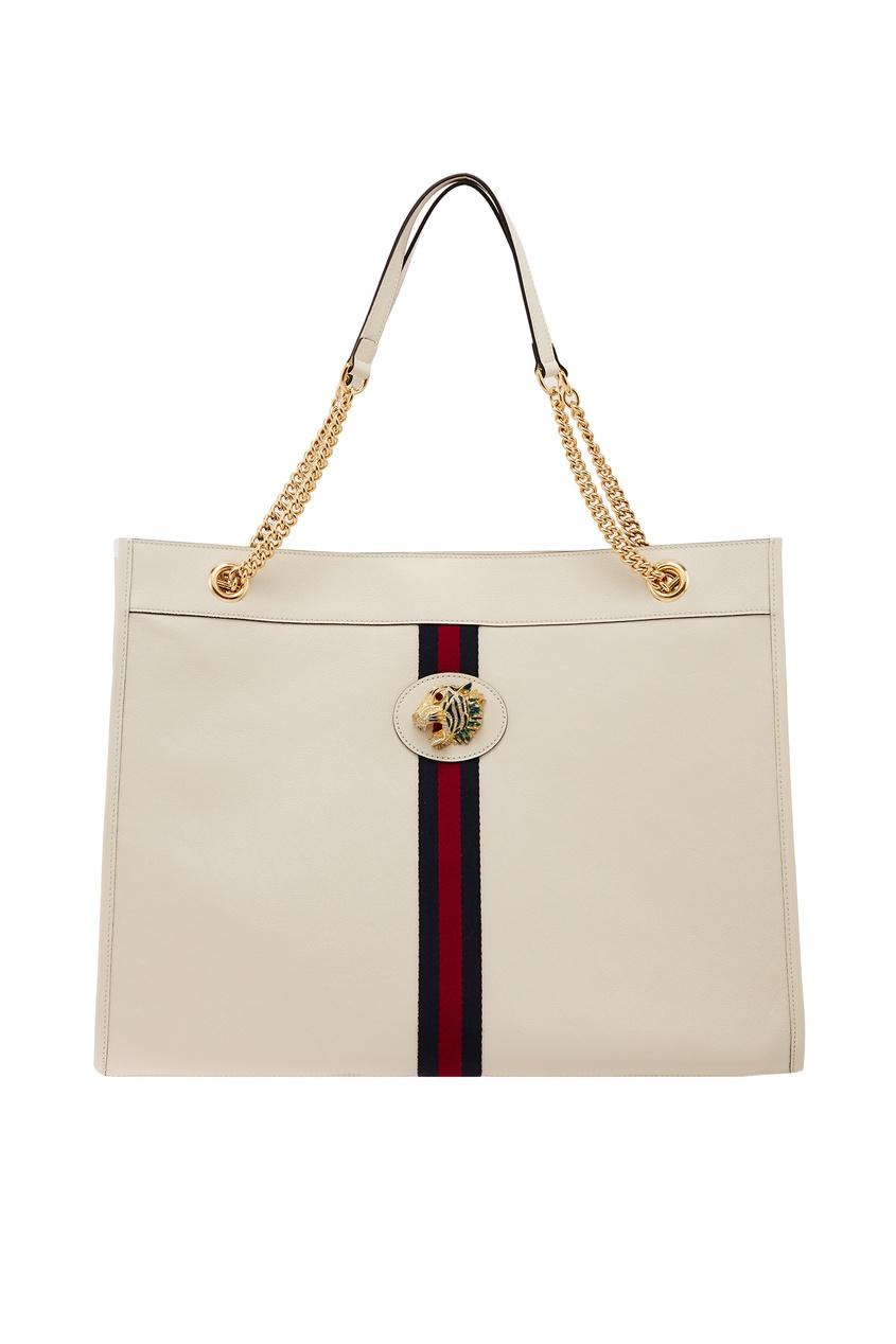 Фото - Белая сумка Rajah от Gucci белого цвета