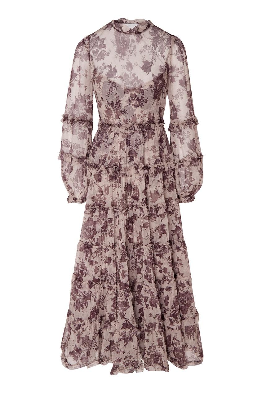 Купить Платье из шифона цвет multicolor