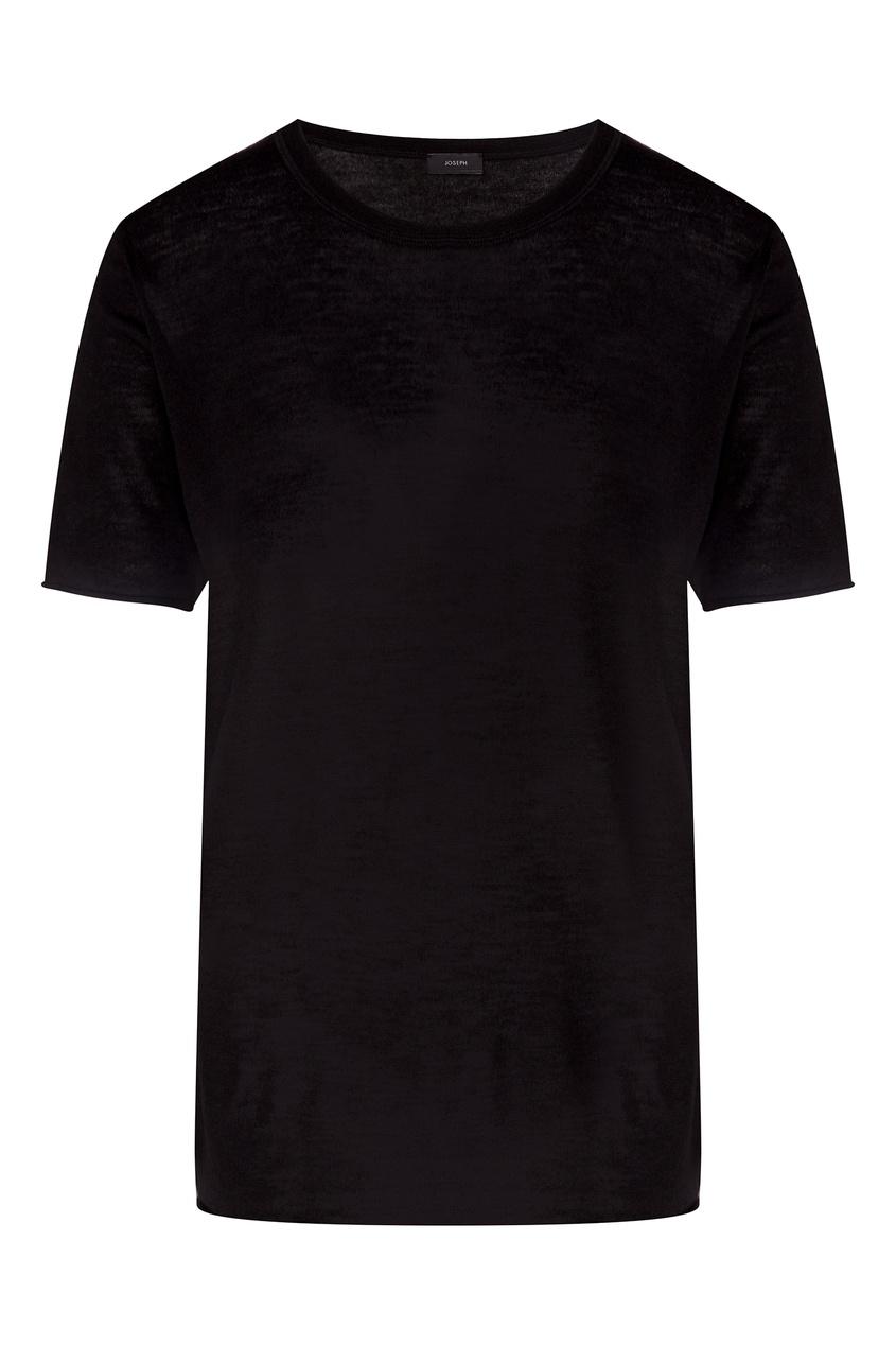 Фото - Черная футболка из кашемира от Joseph черного цвета