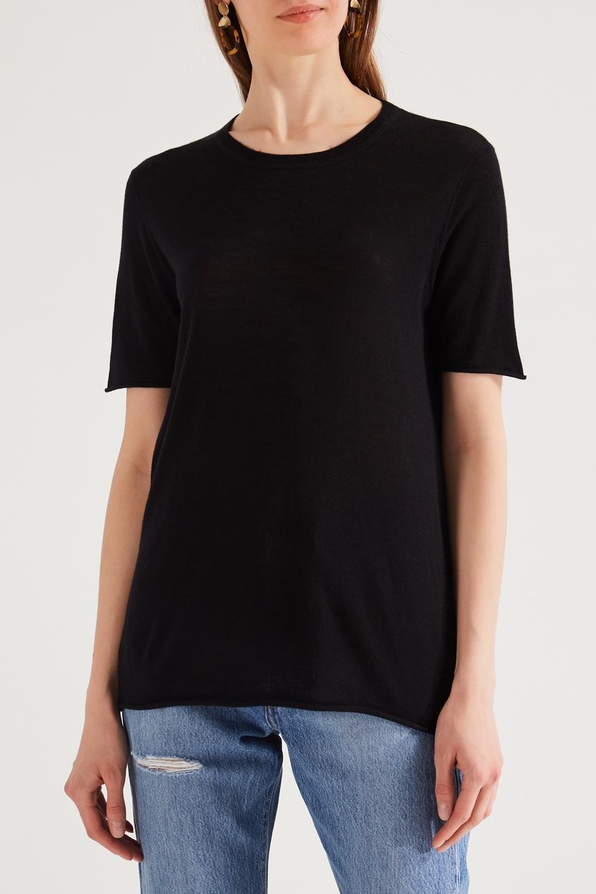 Фото 4 - Черная футболка из кашемира от Joseph черного цвета