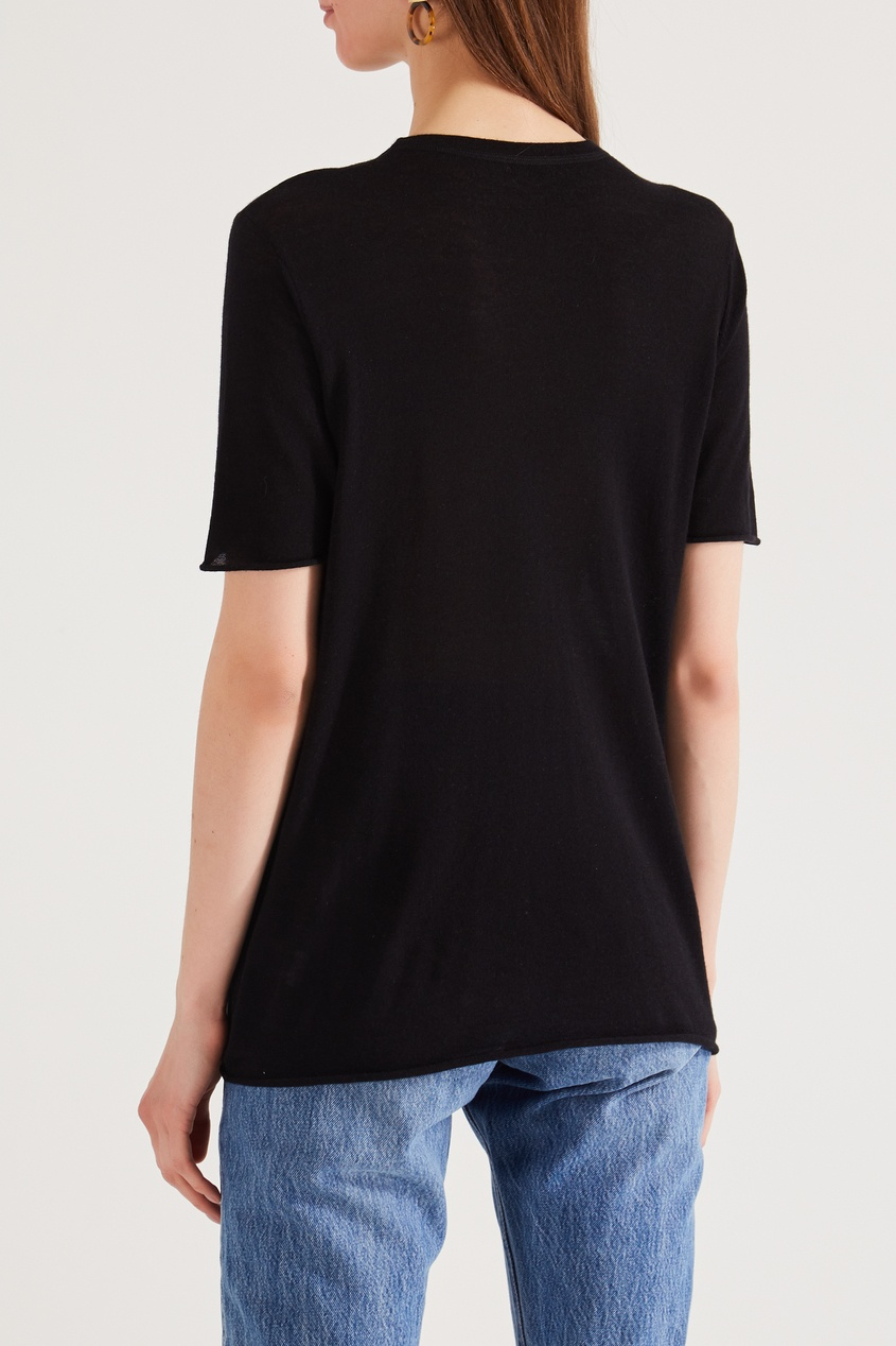 Фото 5 - Черная футболка из кашемира от Joseph черного цвета