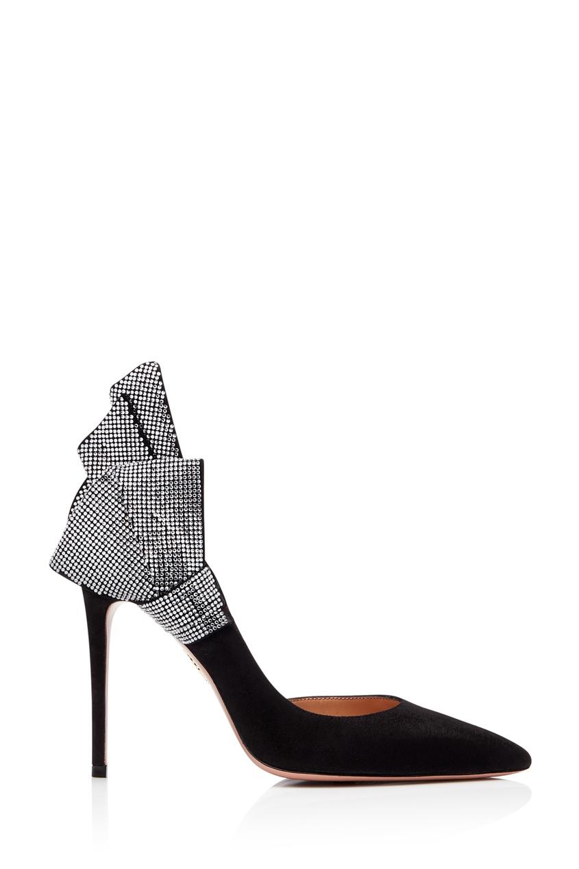 Черные туфли с отделкой Flash Dance Crystal 105