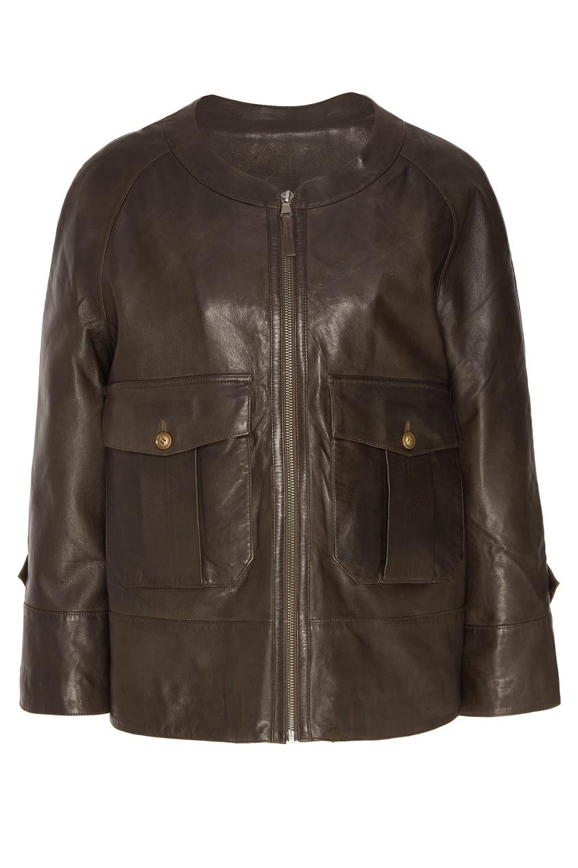 Купить Коричневая куртка коричневого цвета