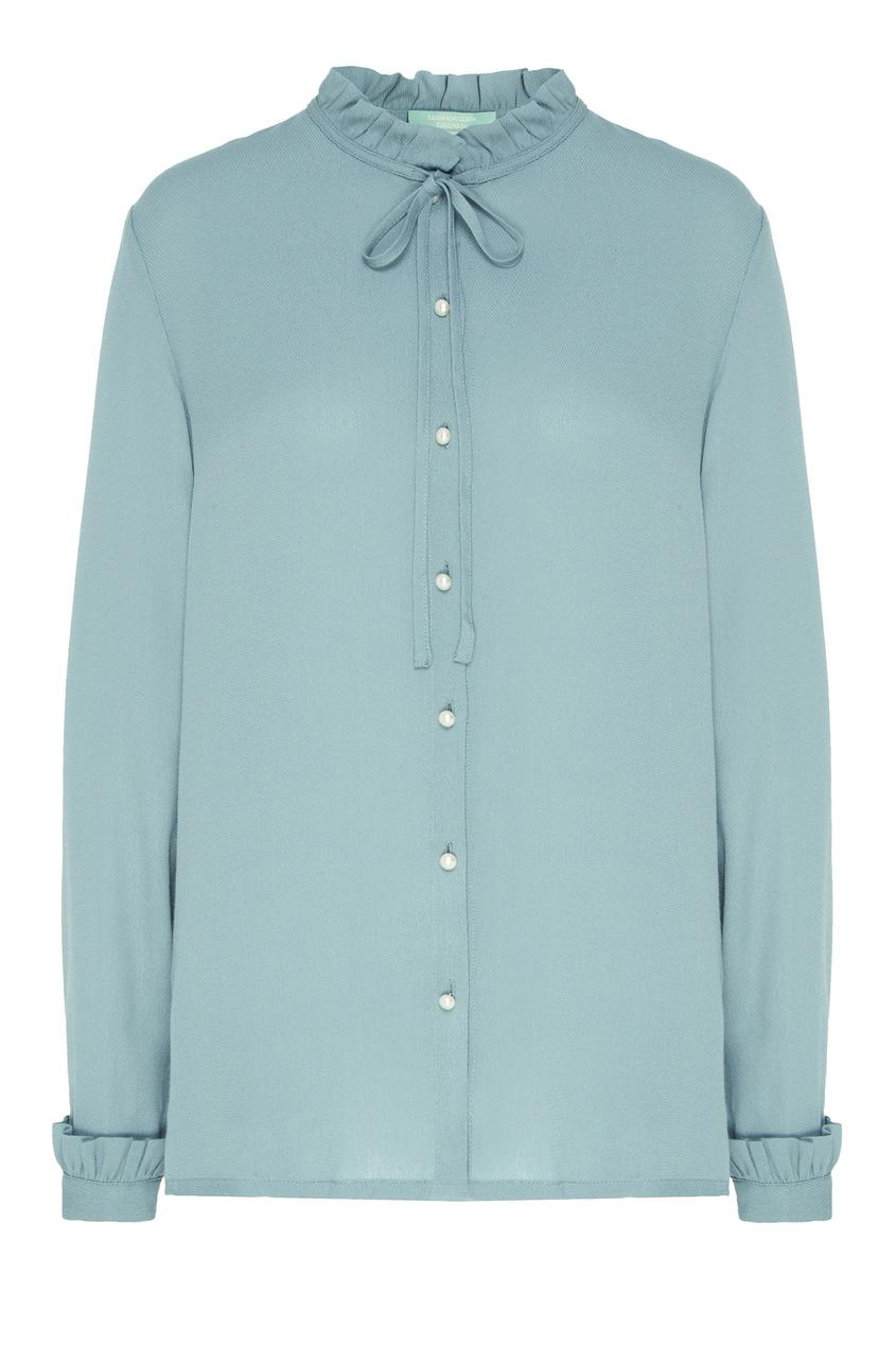 Купить Бирюзовая блузка зеленого цвета