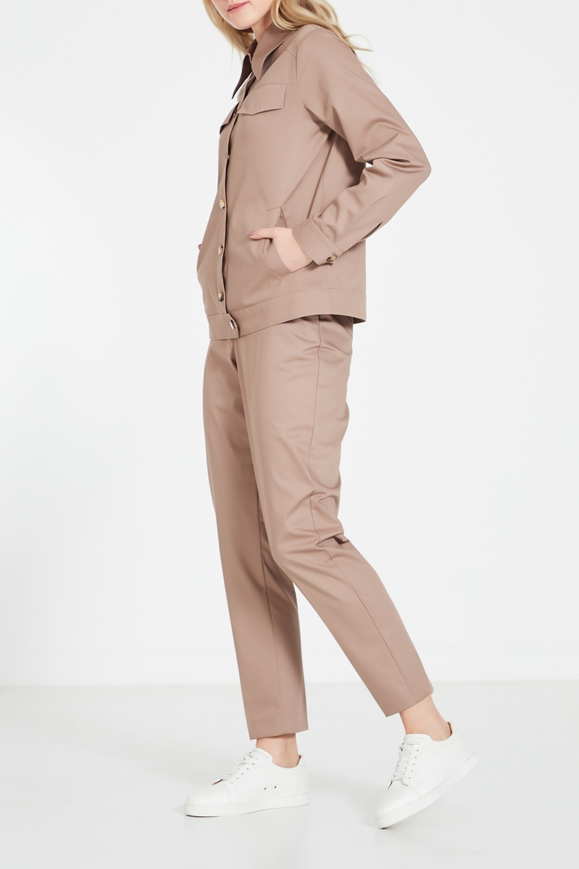 Фото 2 - Бежевые брюки бежевого цвета