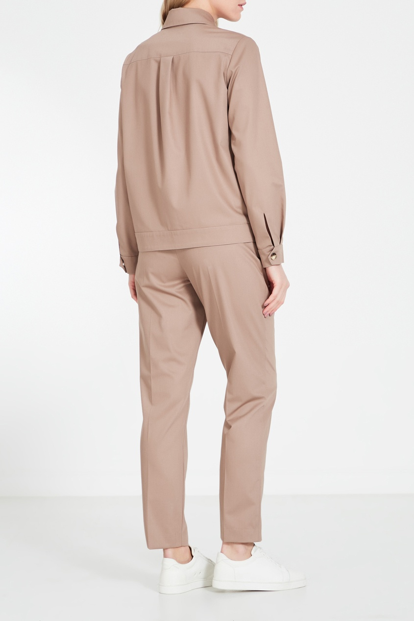 Фото 3 - Бежевые брюки бежевого цвета