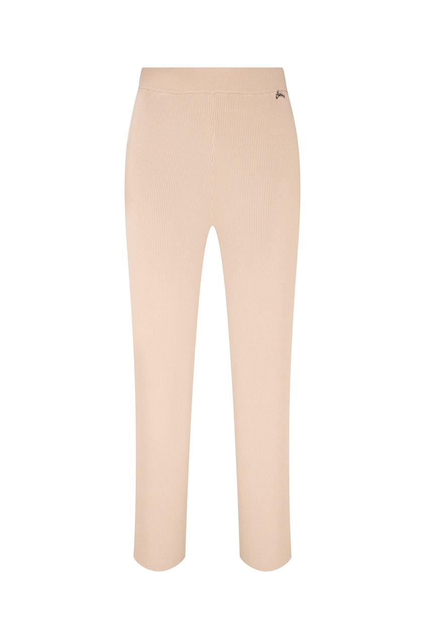 Купить Бежевые расклешенные брюки бежевого цвета