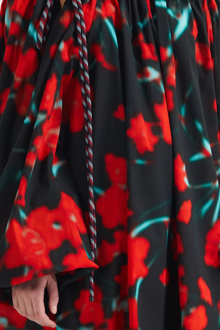 Фото 4 - Объемное платье с принтом от Dries Van Noten цвет multicolor