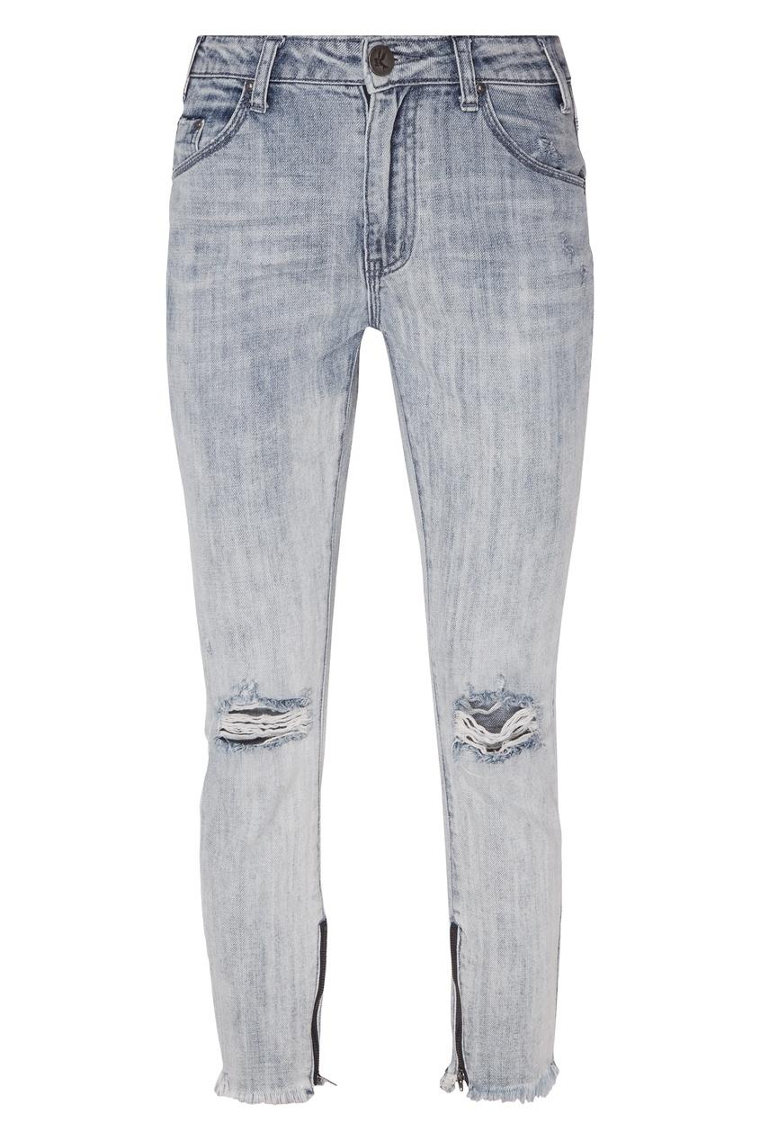 Купить «Вареные» джинсы от One Teaspoon голубого цвета