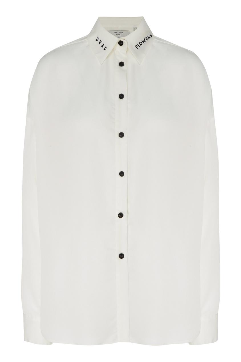 Купить Хлопковая рубашка от One Teaspoon белого цвета