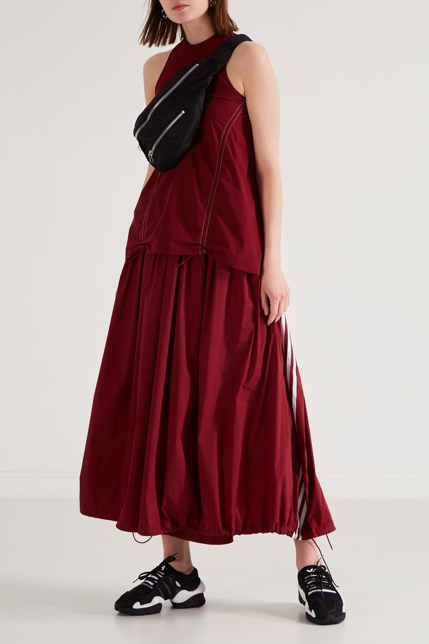 Фото 5 - Юбку-брюки винного оттенка от Y-3 красного цвета