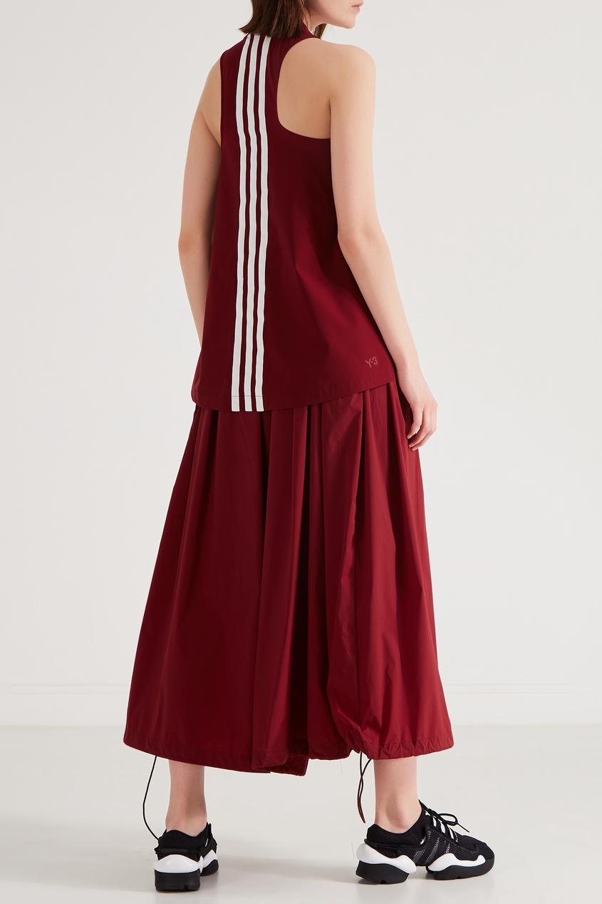 Фото 2 - Юбку-брюки винного оттенка от Y-3 красного цвета