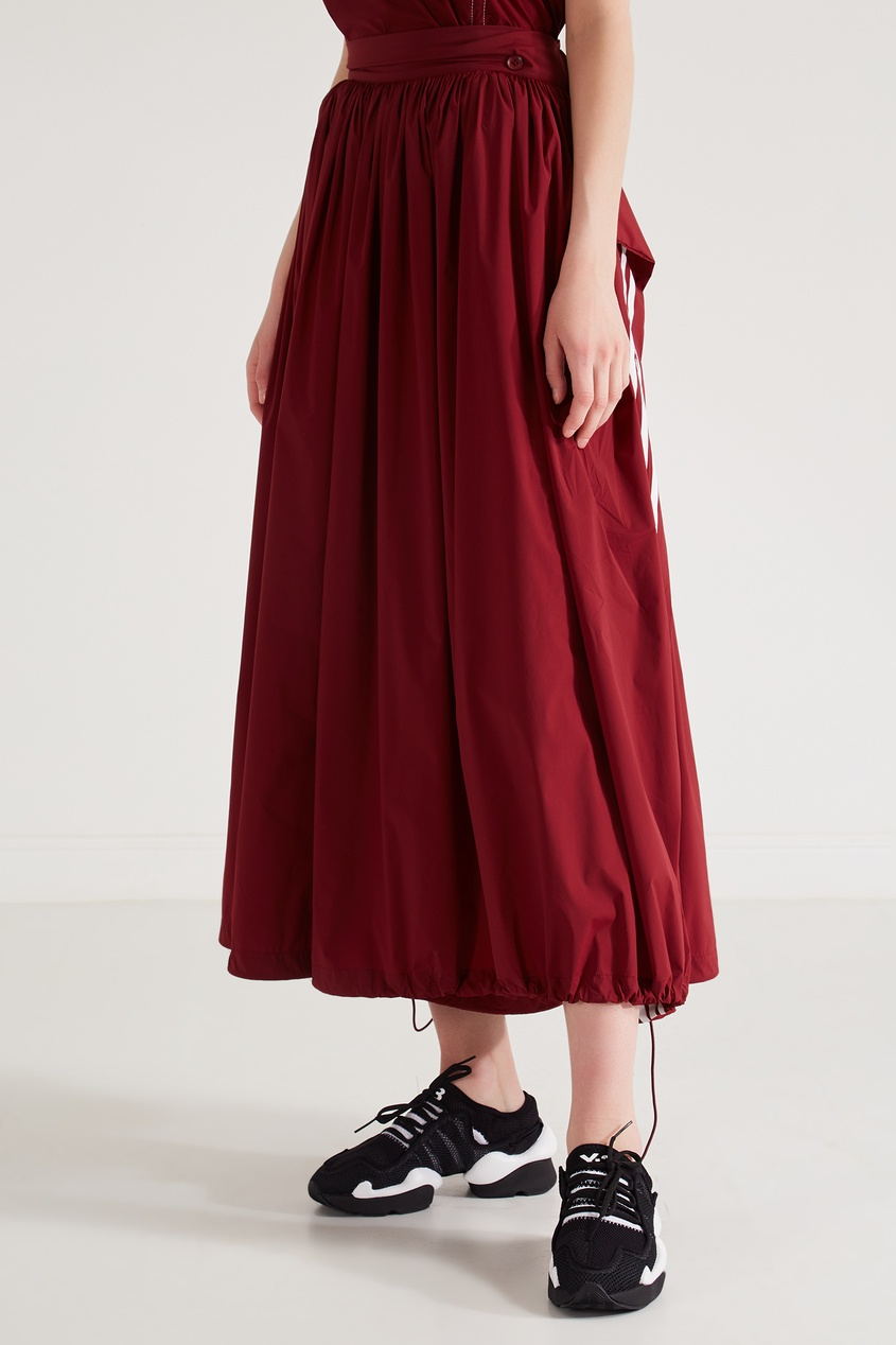 Фото 3 - Юбку-брюки винного оттенка от Y-3 красного цвета