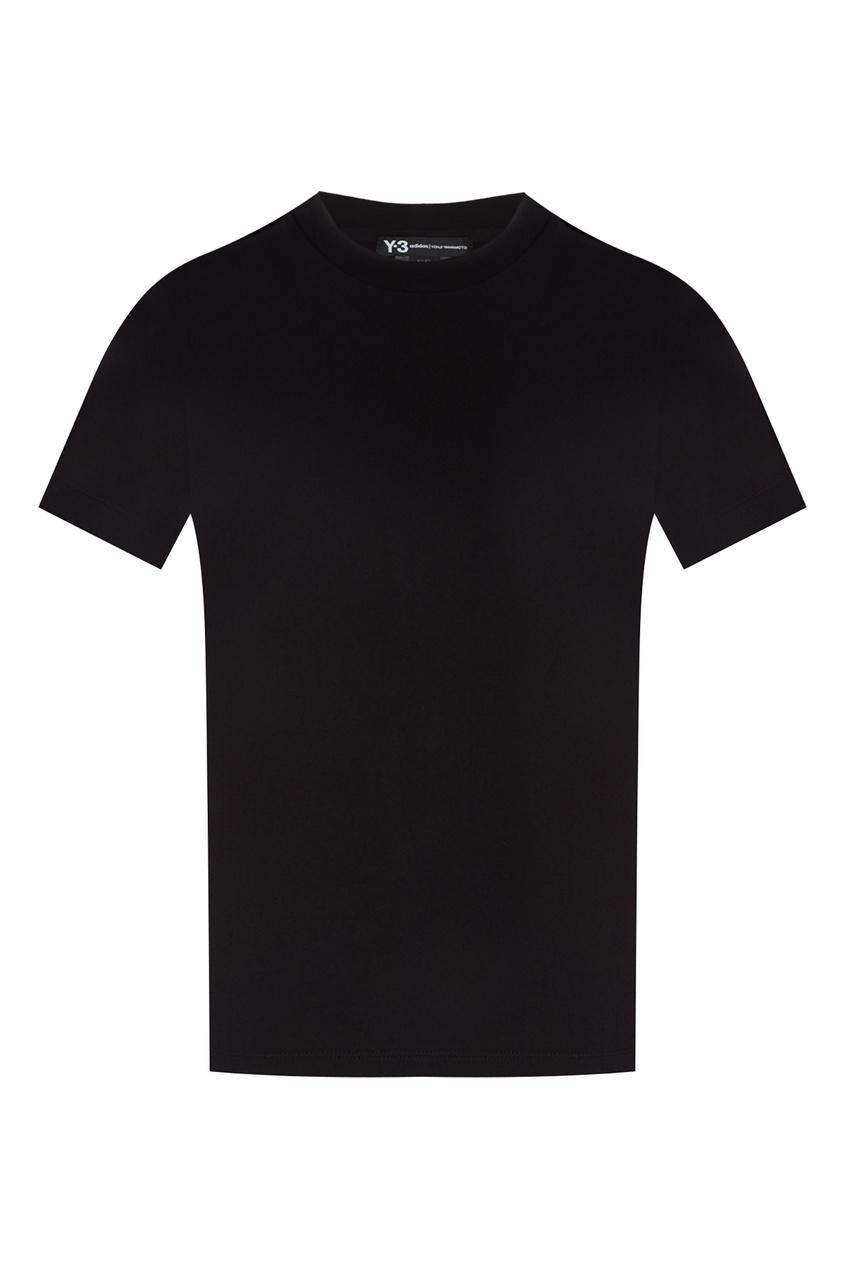 Купить Черная хлопковая футболка от Y-3 черного цвета